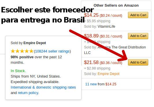 Fornecedor Amazon que entrega no Brasil. Estrogênio Natural.
