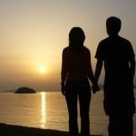 Casal por so sol